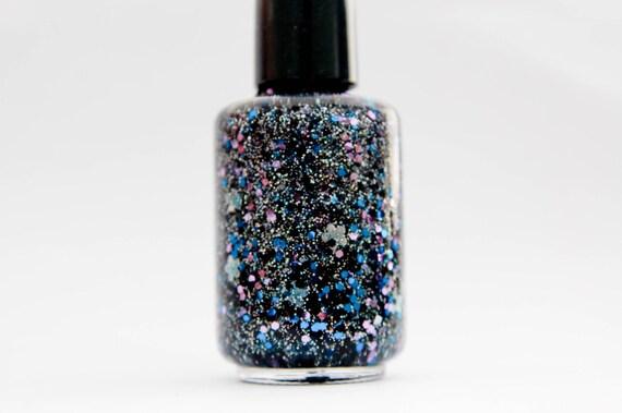 Flower POW-er: nail Polish Custom blended Glitter Lacquer