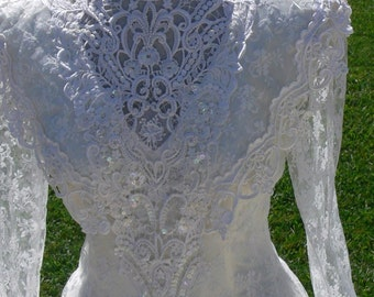Wedding Dress with Pearls size 8