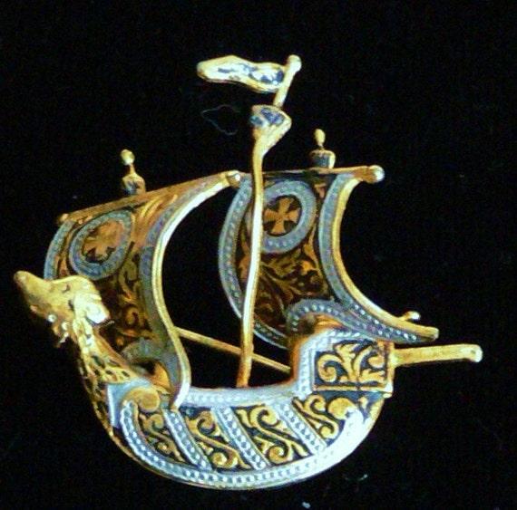Damascene design Spain ship