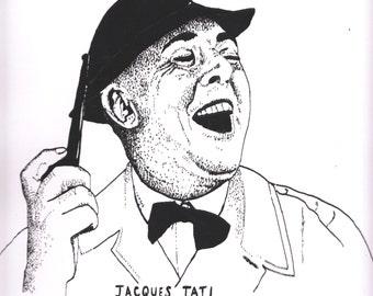 Screenprinted poster of Jacques Tati