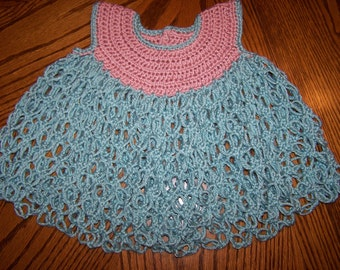 Crocheted Lacy Baby Dress-Eco- Way-3month