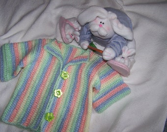 Sweater in Pastel Stripes-12-18 month size ( PRICE REDUCED-was 35.00)
