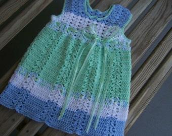 Adorable Hand Crocheted Toddler Dress-18-24 mo