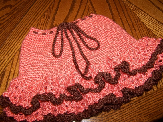 Crocheted Ruffle Skirt- PRICE REDUCED -was 30.00