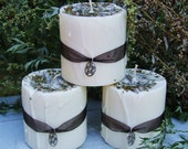 Clean Sweep. Enchanted Witchery Candle 2x3 .Rosemary, White Sage, Eucalyptus. Magickal Rites of Cleansing, Purification, Banishing