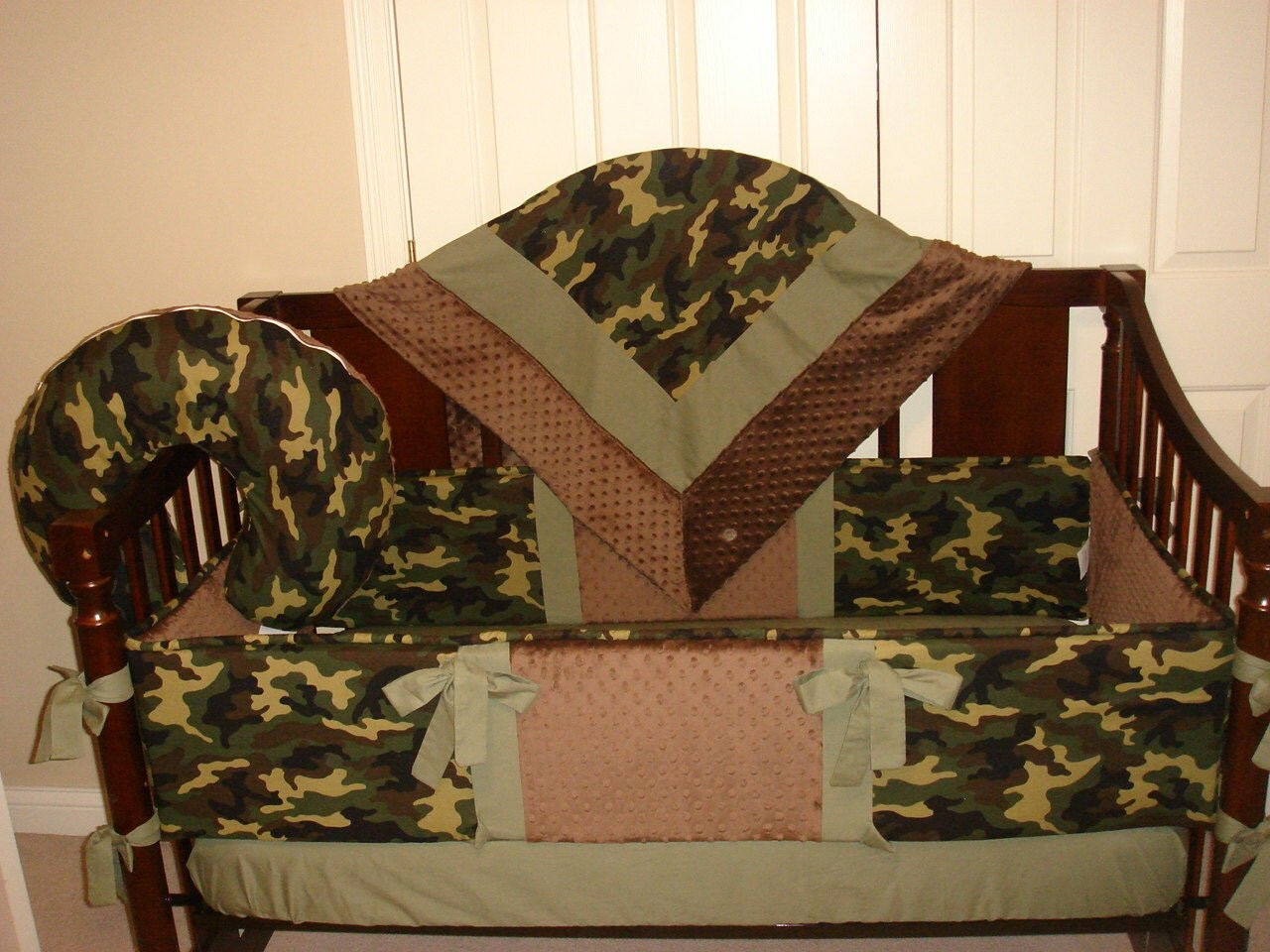 Camouflage Baby Bedding Crib Set You Design Many Colors