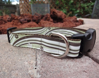 "1"" Width Dog Collar - Lime Wave"