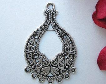 2 pcs  - 40x25mm  -  Tibetan Silver Earring Connectors Findings