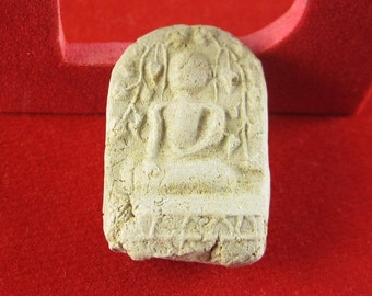 1 pc  - Phra Nak Prok Clay Amulet,  Pendants, Buddhist, Buddha Clay Amulets, Thailand (26x18MM)