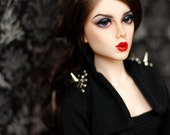 BJD SD Black Spiked Bolero Jacket For Ball Jointed Dolls