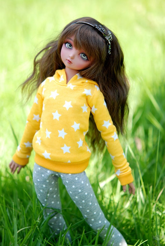 MSD Yellow Star Hoodie For BJD - Last One