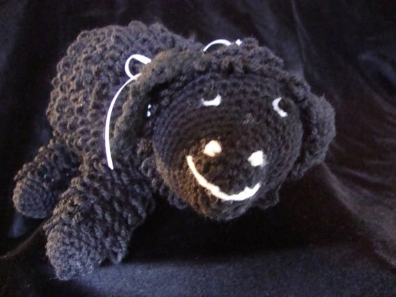 Crocheted  Black Sheep