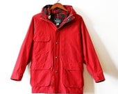 vintage woolrich parka womens large red
