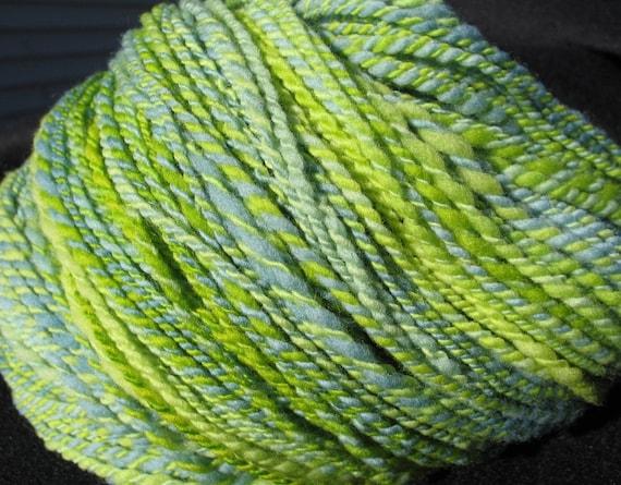 Splish Splash, Handspun Merino yarn, 285 yards of 2 ply sport weight