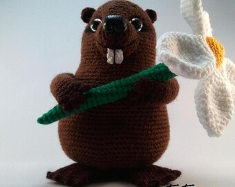 Beaver Mr. Bobritsky - amigurumi PDF crochet pattern ebook