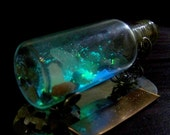 Magic Cave in a Bottle - Glow in the Dark Cavern Scene in Large Glass Bottle - Comes with Display Stand