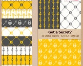 GOT A SECRET - Digital Scrapbooking Paper Pack - Personal and Small Business Use