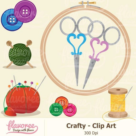 Digital Scrapbook Clip Art CRAFTY TOOLS PACK by Flavoree ...