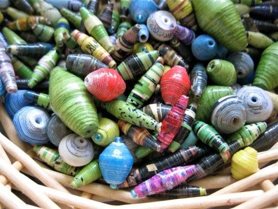 Paper Beads - Assorted Colors - Handmade in Uganda