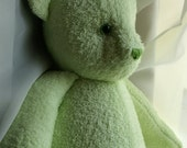 Spring green OOAK teddy bear - Personalize option - Made To Order