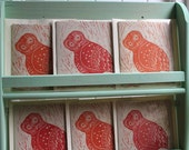 Little Owl Handprinted Greeting Card