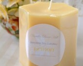 Lemon Drop Pillar Candle
