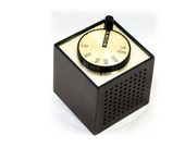 60s Sony Transistor Radio Modern TR-1819 Cube Faux Bois - Works Great - Free Shipping