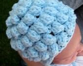 Newborn Crochet Popcorn Hat Pattern