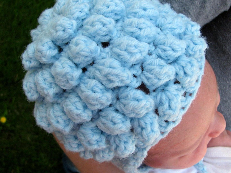 Crochet Popcorn Flower Free Pattern : Newborn Crochet Popcorn Hat Pattern by ChristinaGavenda on ...