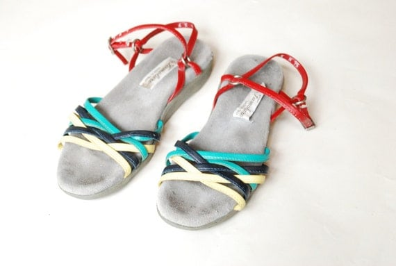 Vintage STRAPPY leather ITALIAN made sandals.