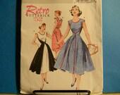 Uncut Retro 1952 Butterick Pattern 4790 Size 8-14 Very Easy Wrap Dress