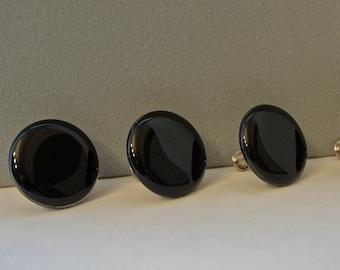 Fused Glass Knobs Black Cabinet Knobs Pulls Black Dresser Drawer Handles Desk Cupboard Hardware Closet Door Knobs Furniture Remodel
