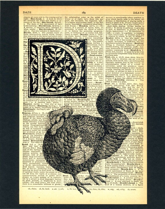 D is for Dodo Dictionary Print