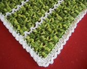 Soft Crocheted Baby Blanket- Boy