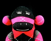 Pink and Red Argyle Monkey