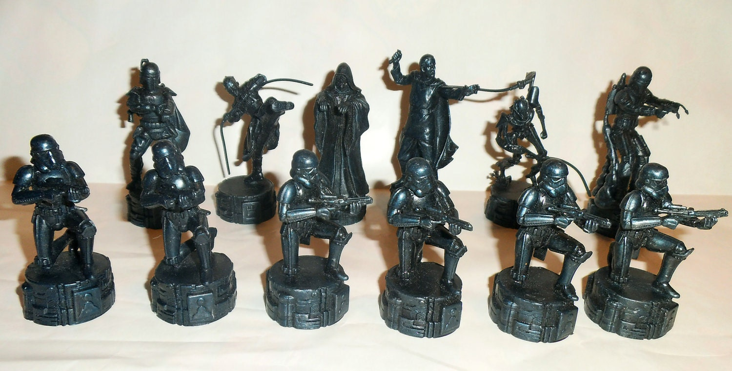 Star Wars Chess Set Pieces 12 In Total By Parker Brothers