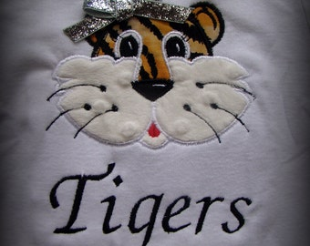 "Mizzou ""Girl"" Tiger Appliqued Bodysuit or Shirt"