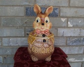 Vintage rabbit cookie jar Royal Sealy Japan
