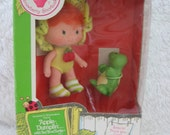 SALE Strawberry Shortcake Apple Dumplin with Pet Tea Time Turtle-Vintage Kenner 80's
