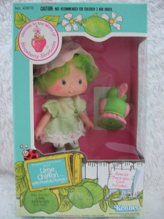 Items similar to SALE Strawberry Shortcake's Lime Chiffon and Parfait ...