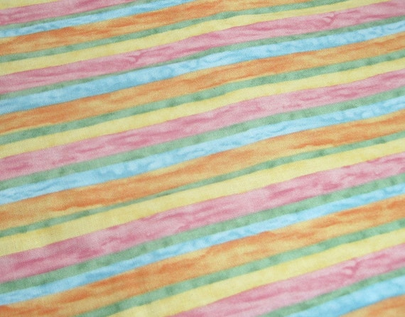 pink yellow green orange blue striped fabric fat quarter. Black Bedroom Furniture Sets. Home Design Ideas