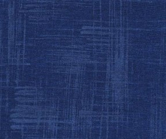 CLEARANCE Indigo Painters Canvas Fabric - Garden Wall by Laura Gunn from Michael Miller 15 Inches - End of Bolt