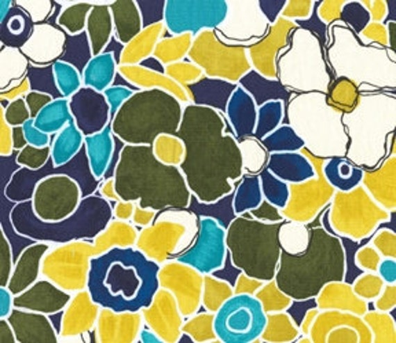 CLEARANCE Colorful Floral Fabric - Garden Wall by Laura Gunn from Michael Miller 32 Inches - End of Bolt