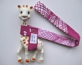 LAST ONE:  Toy Leash Tether Strap for Sophie The Giraffe & other toys -- Pink