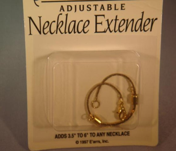 Gold Tone Necklace Extender. Supplies  CKDesigns.us