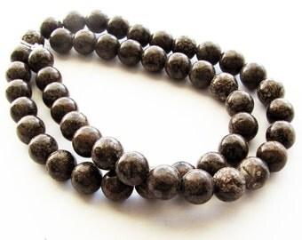Brown Snowflake Jasper Beads 8mm (natural, grade B)