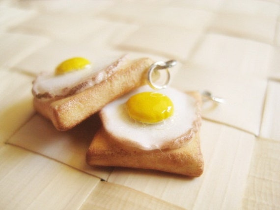 Real Fake Eggs and Toasts - Set of 2