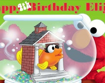 "Elmo & Dorothy Personalized Custom Birthday Banner with a ""free"" printable DIY Thank You Note"
