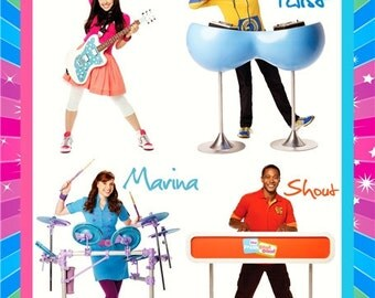 The Fresh Beat Band -ROCKSTAR- Personalized Custom Room Decor Poster/Banner