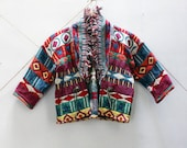 Abstract Aztec 70's Jacket